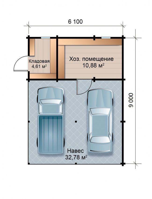 Проект гаража-120