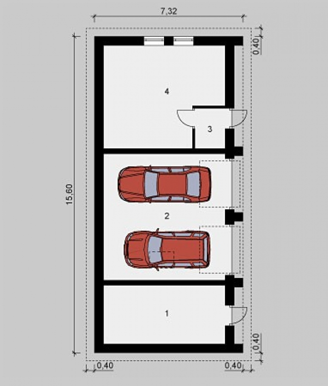 Проект гаража-246