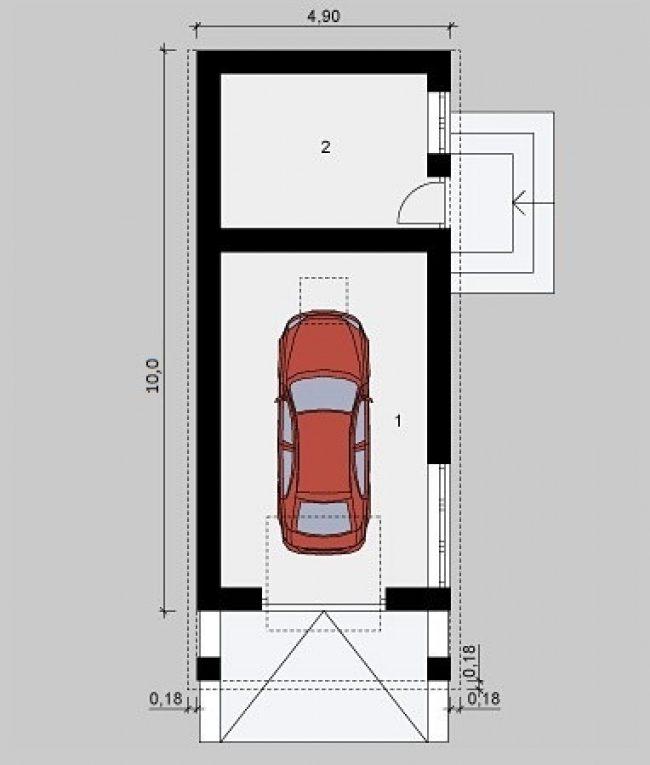 Проект гаража-76