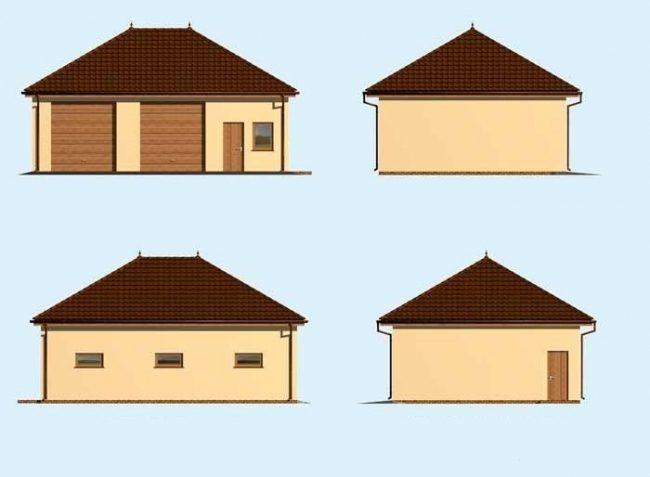 Проект гаража-217