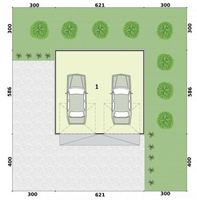 Проект гаража-87