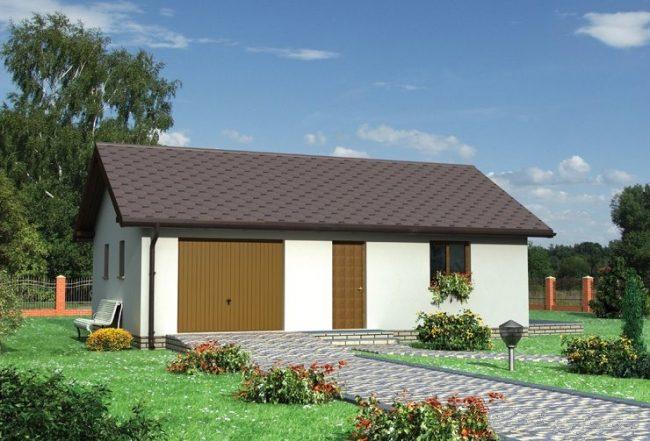 Проект гаража-124