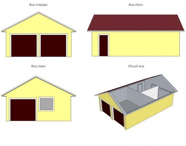 Проект гаража-130