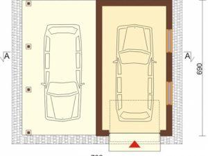 Проект гаража-142