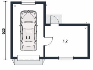 Проект гаража-106